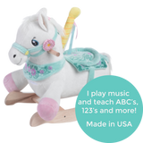 Rocking Carousel Horse - Girl (#RB7) - StorkBabyGiftBaskets - 2