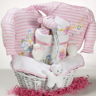 Welcome Home Newborn Gift Basket - Boy (#CBB178)