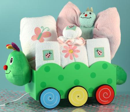 Caterpillar Wagon Layette - Girl