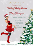 Christmas New Mom To Be Baby Shower Invitation