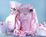 Baby Girl Clothesline Shower Gift Set (#BGC162) - StorkBabyGiftBaskets