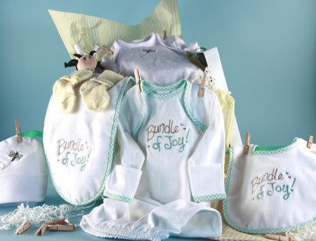 Baby Clothesline Shower Collection (#BGC164) - Stork Baby Gift Baskets