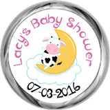 Nursery Rhymes ~ Cow On Moon Baby Shower Stickers (#HKS14) - StorkBabyGiftBaskets - 1