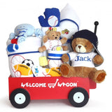 Welcome Wagon Deluxe - Boy (#BGC90) - Stork Baby Gift Baskets - 1