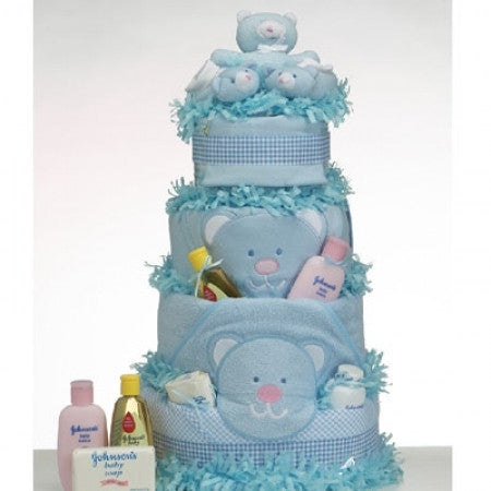 Diaper Cake Supreme in Blue (#BGC80) - StorkBabyGiftBaskets