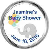 Elephant with Balloons Stickers - Hershey's Candy Favors (#HKS36) - StorkBabyGiftBaskets - 1