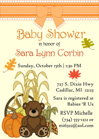 Fishing Baby Shower Invitation - Girl (#DIY91)