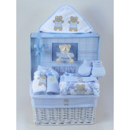 Little Boy Blue Personalized Blanket Set #(BBC93)