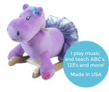 Gracie the Hippo Baby Girl Rocker (RB10) - StorkBabyGiftBaskets - 2