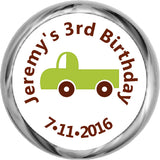 Green Truck - Toddler Boy's HERSHEY KISSES Stickers (#HKS309) - StorkBabyGiftBaskets