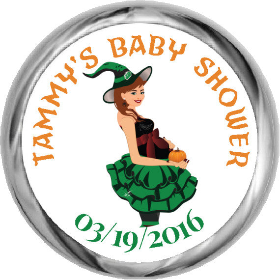 Halloween Witch Mama Stickers - Kisses Candy (#HKS25) - StorkBabyGiftBaskets - 1
