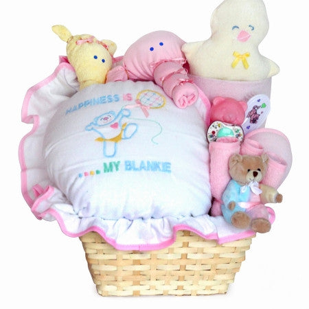 Happiness Basket - Girl (#BGC55) - Stork Baby Gift Baskets