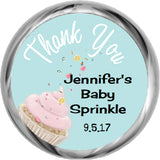 Sweet  Sprinkle - Kisses Candy Favors (Set of 108 Stickers)