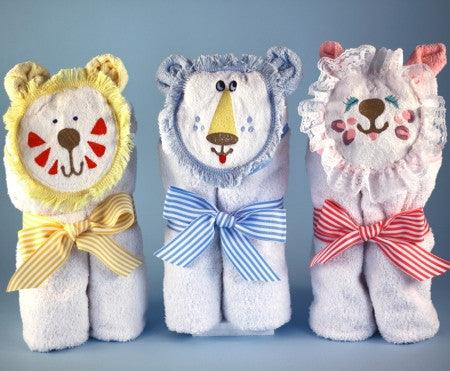 Hooded Towels Purr...fect Baby Gift (#BGC88) - StorkBabyGiftBaskets