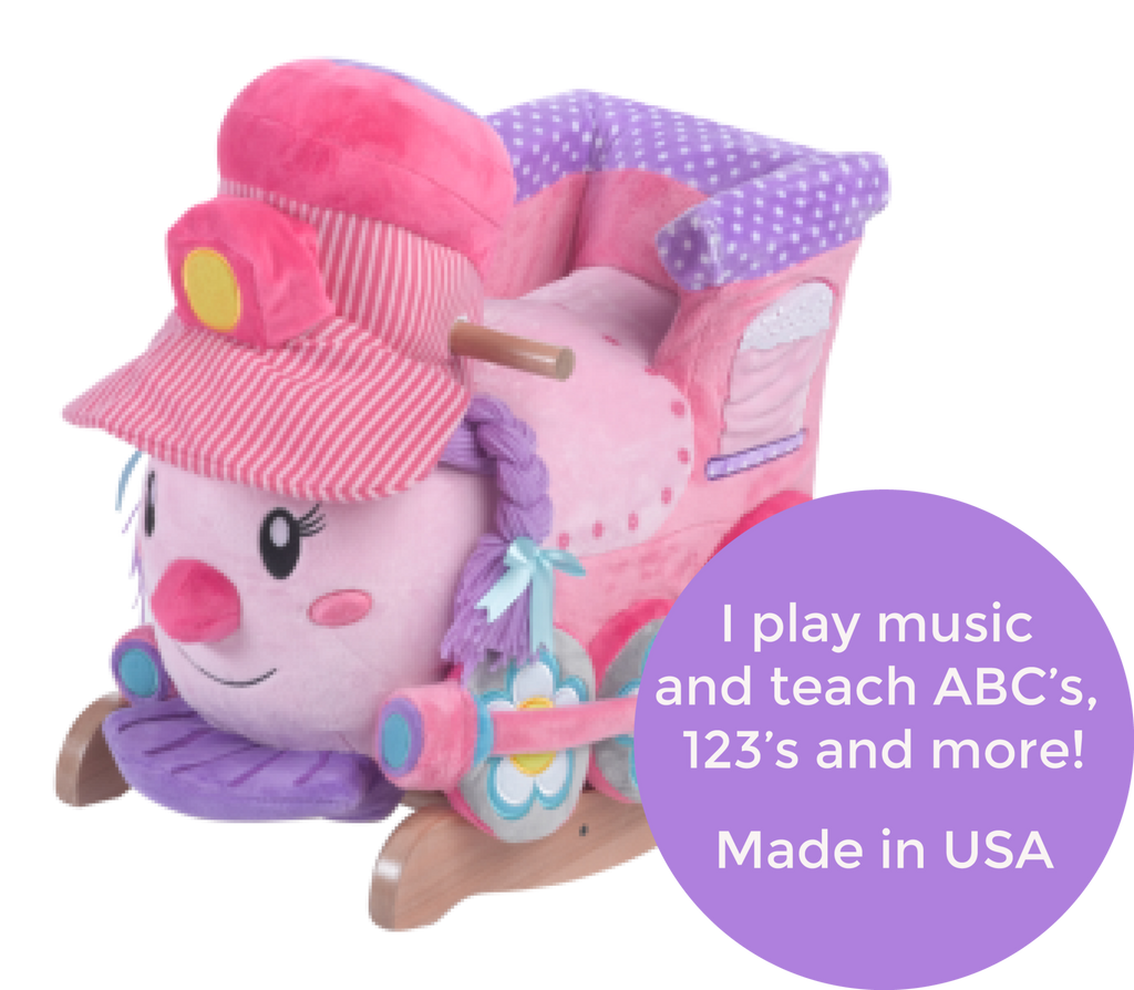 Jane the Train Play and Rock (#RB11) - StorkBabyGiftBaskets - 2