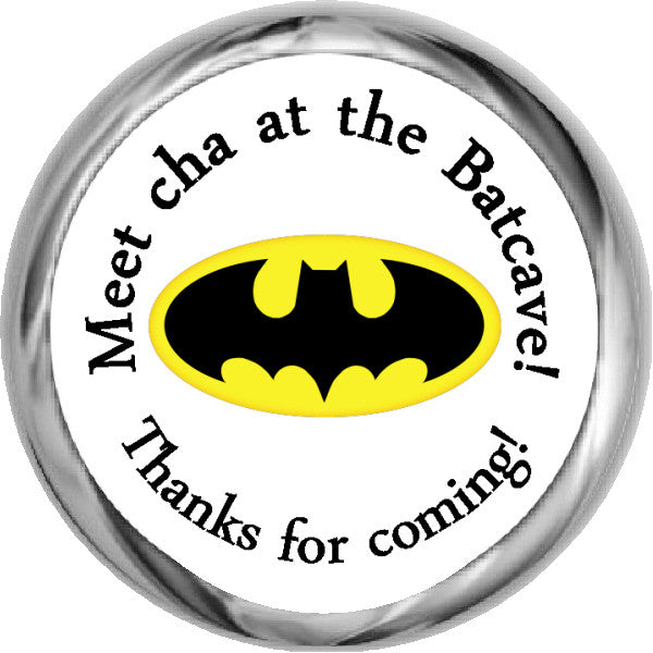 Batman Logo - HERSHEY KISS Stickers (#HKS329) - StorkBabyGiftBaskets