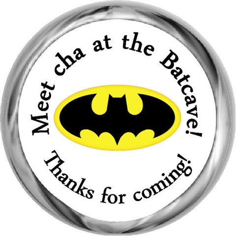 Batman Boy Sticker - Personalized HERSHEY KISS FAVOR (#HKS330)