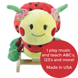 Ladybug Musical Toy Rocker (#RB14) - Stork Baby Gift Baskets - 2