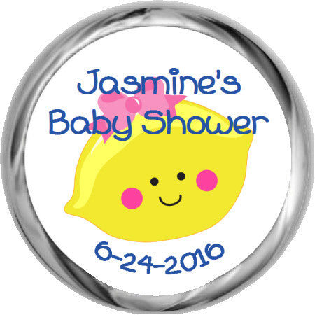 Cupcake Cutie Stickers - Kisses Candy For Baby Shower Favors (#HKS18)