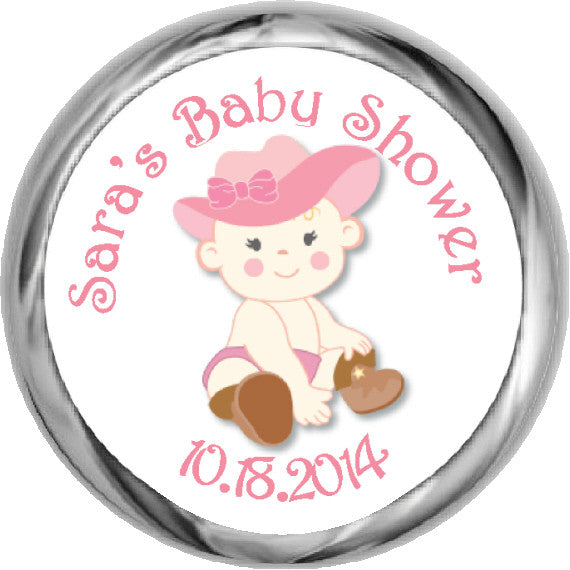 Lil' Cowgirl Stickers -  Baby Shower (#HKS07) - StorkBabyGiftBaskets - 1