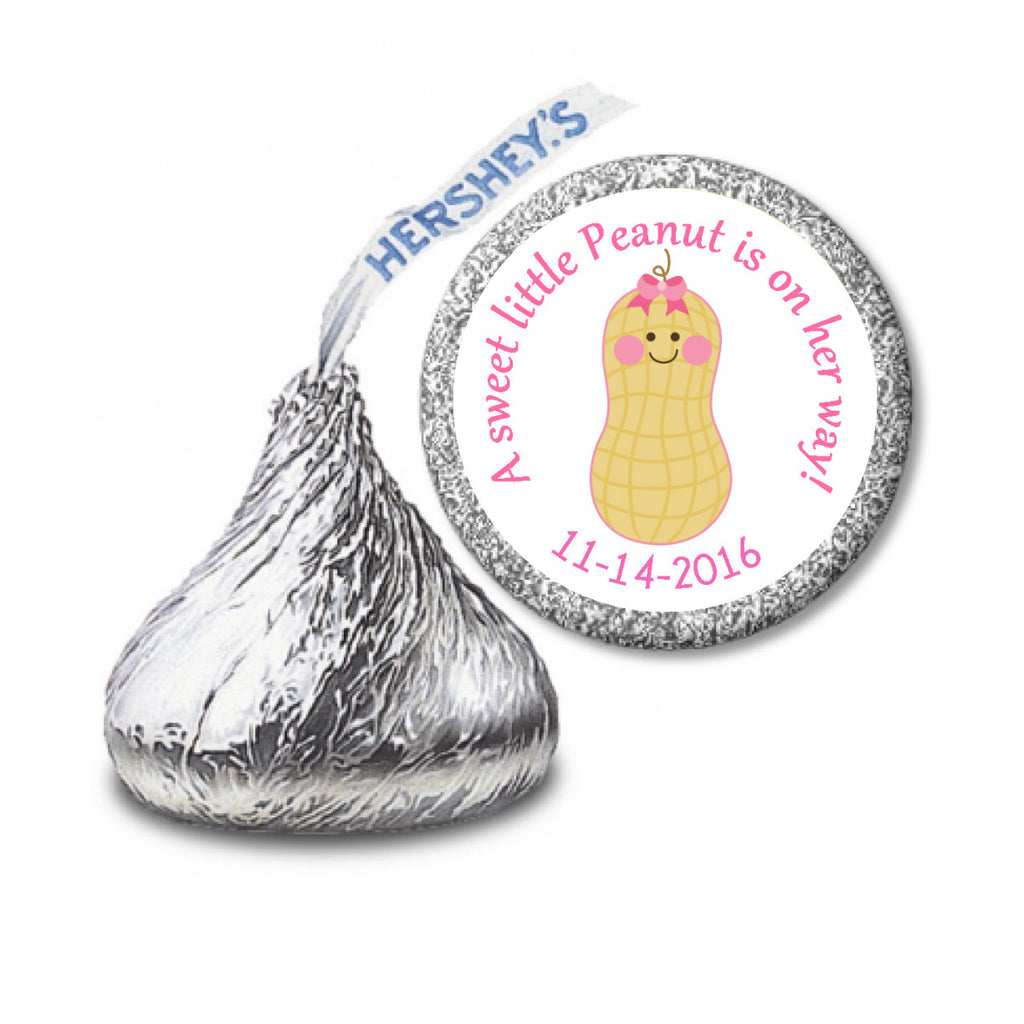 Little Peanut Stickers - Baby Girl Kisses Candy (#HKS29) - StorkBabyGiftBaskets - 2