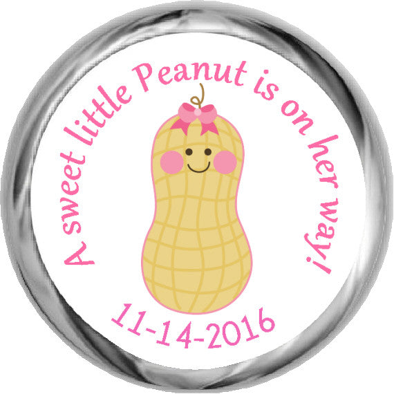 Little Peanut Stickers - Baby Girl Kisses Candy (#HKS29) - StorkBabyGiftBaskets - 1