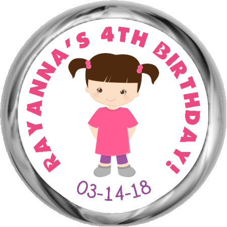 Carousel Girl  - HERSHEY KISSES Birthday Stickers (#HKS318)