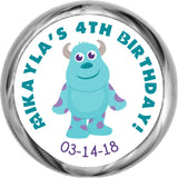 Sully - Birthday Hershey Kisses Sticker