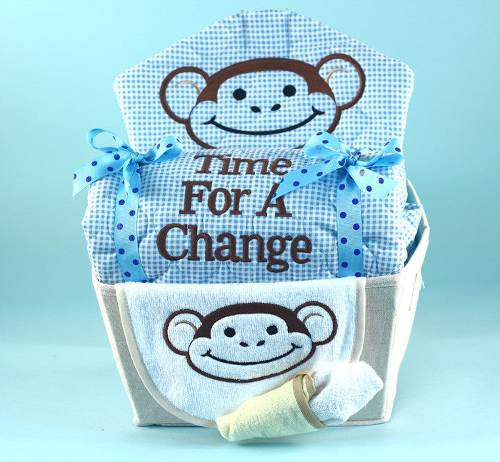 My Little Monkey Gift Basket For Baby (#BGC171) - StorkBabyGiftBaskets - 2