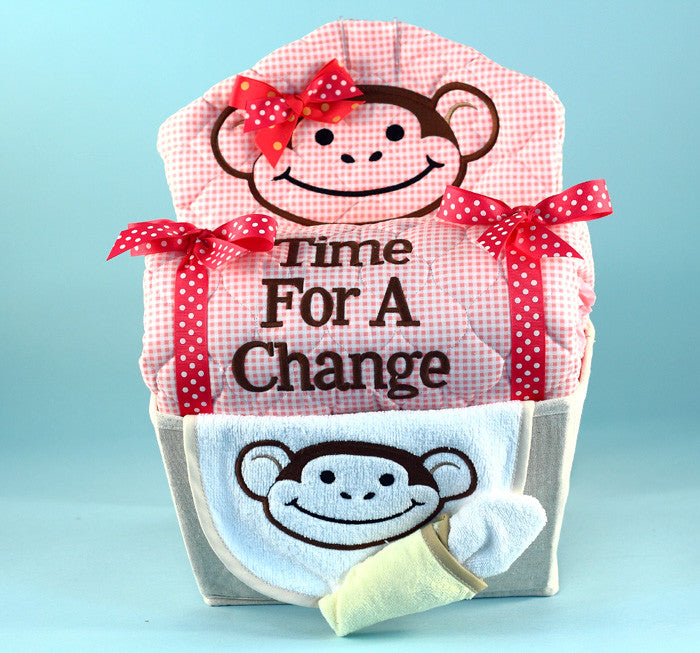 My Little Monkey Gift Basket For Baby (#BGC171) - StorkBabyGiftBaskets - 3