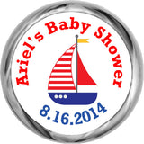 Nautical Sail Boat Stickers - Personalized Kisses Candy (#HKS38) - StorkBabyGiftBaskets - 1