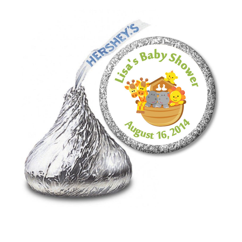 Noah's Ark Stickers - Hershey's Kisses Labels (#HKS16) - StorkBabyGiftBaskets - 2