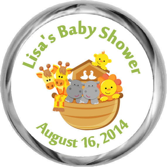 Noah's Ark Stickers - Hershey's Kisses Labels (#HKS16) - StorkBabyGiftBaskets - 1