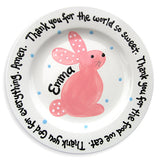 Spring Celebrations Bunny Plate - Pink (#LWC-136a)
