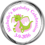 Pink Dragon Personalized HERSHEY KISSES Stickers (#HKS320) - StorkBabyGiftBaskets
