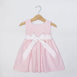Pink Gingham Sash Dress (#PL1) - StorkBabyGiftBaskets - 3