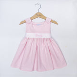 Pink Gingham Sash Dress (#PL1) - StorkBabyGiftBaskets - 1