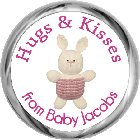 Giraffe Boy Hershey Kisses Shower Sticker (#HKS43)