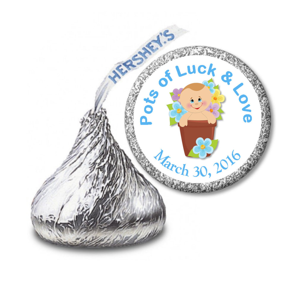 Pots of Luck Boy Sticker - Hershey Kisses Baby Shower (#HKS32) - StorkBabyGiftBaskets - 2