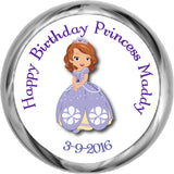 PRINCESS SOFIA- BIRTHDAY HERSHEY KISSES STICKERS