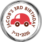 Red Car Sticker - KISSES Candy Birthday (#HKS310) - StorkBabyGiftBaskets