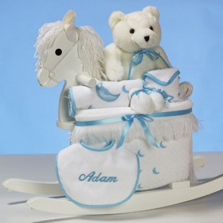 Baby's Rocking Horse Gift Set (#BGC305)