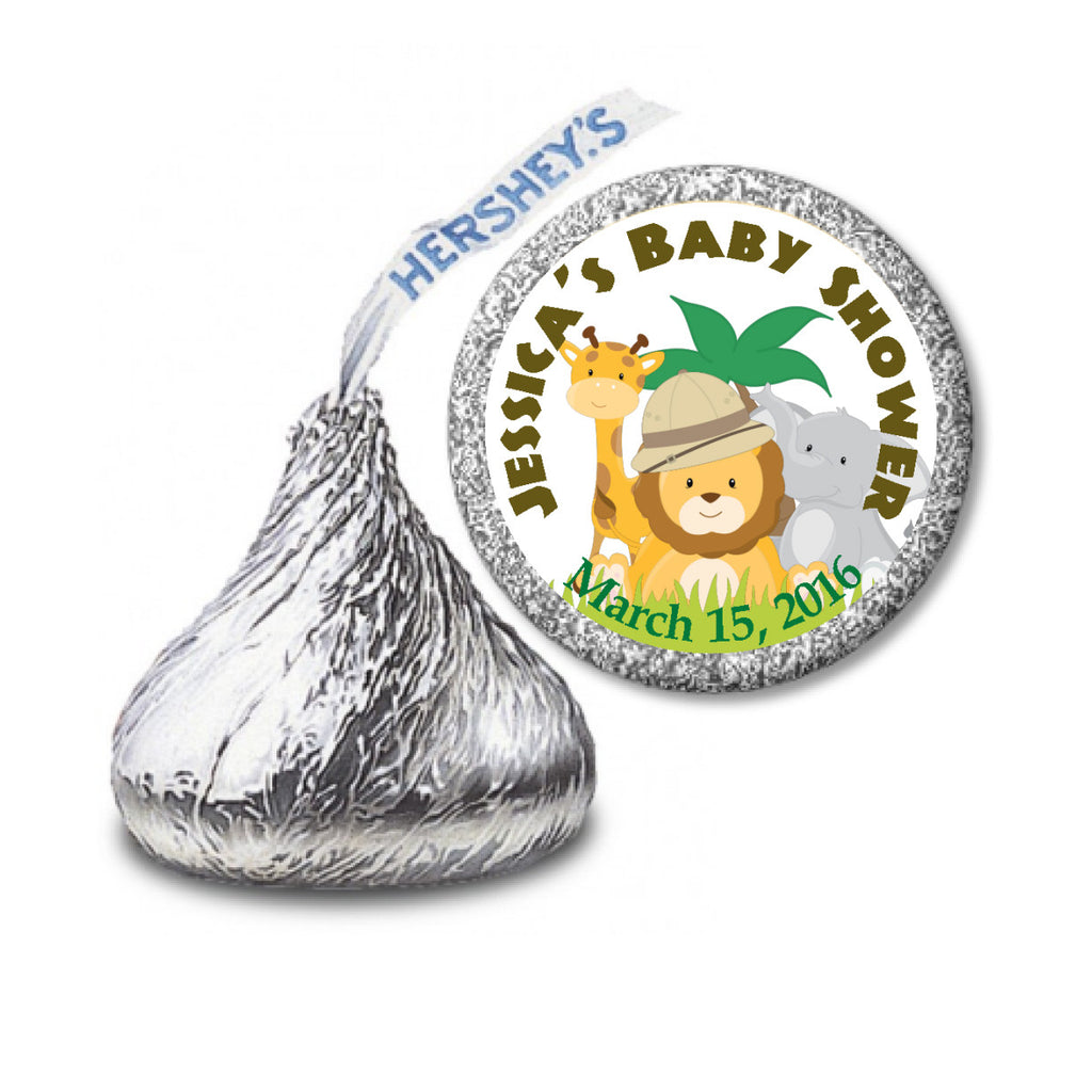 Safari Stickers - Kisses Chocolate Favors (#HKS15) - StorkBabyGiftBaskets - 2