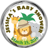 Safari Stickers - Kisses Chocolate Favors (#HKS15) - StorkBabyGiftBaskets - 1