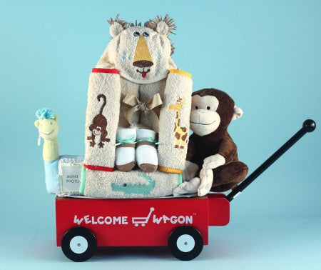Safari Jungle Wagon (#BGC185) - StorkBabyGiftBaskets - 1