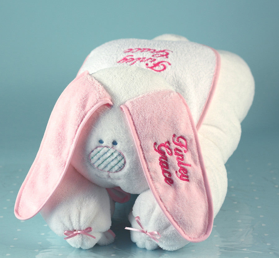 Snuggle Bunny Unique Baby Blanket  (#BGC20) - Stork Baby Gift Baskets - 3