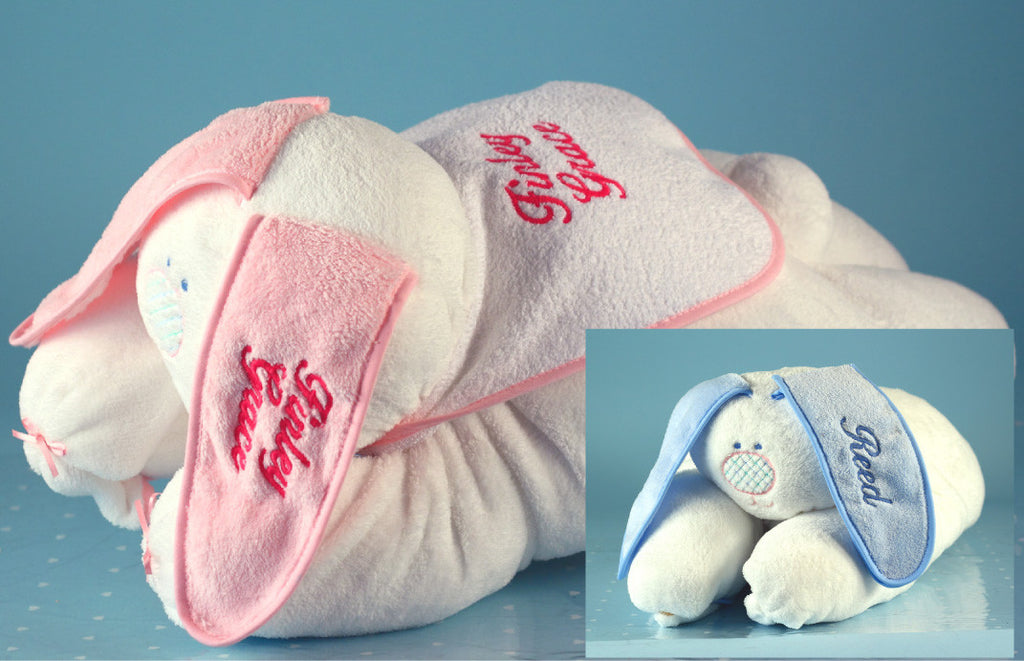 Snuggle Bunny Unique Baby Blanket  (#BGC20) - Stork Baby Gift Baskets - 1