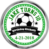 Soccer Kickoff Birthday - Personalized Hershey Kisses Stickers