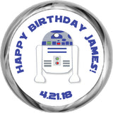 R2D2 - Birthday Hershey Kisses Stickers