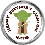 Yoda - Birthday Hershey Kisses Stickers